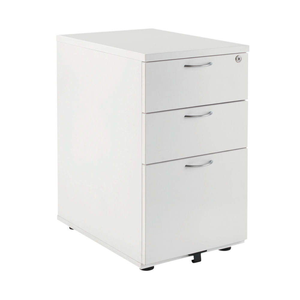 Jemini D600mm White 3 Drawer High Pedestal