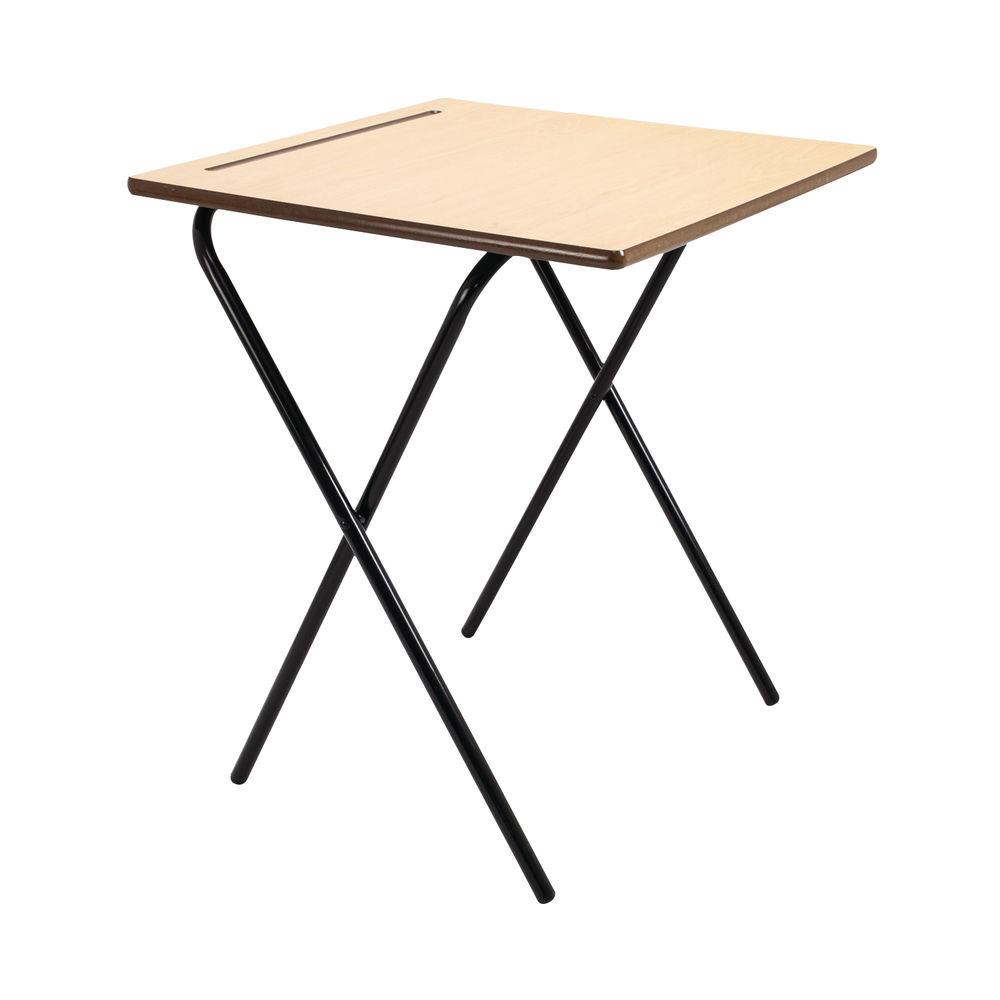 Titan Beech Folding Exam Desk