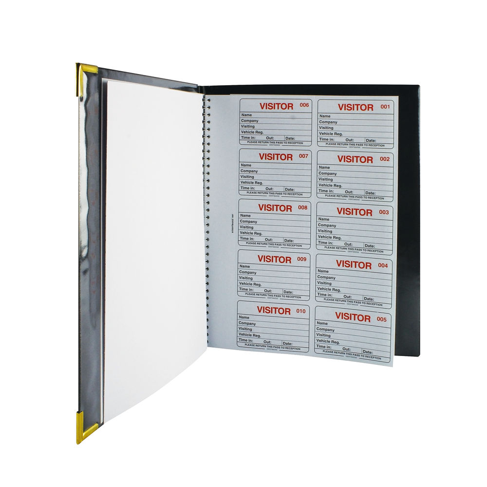 IdentiBadge Visitors Book with 100 Badge Inserts - IBVBSYS