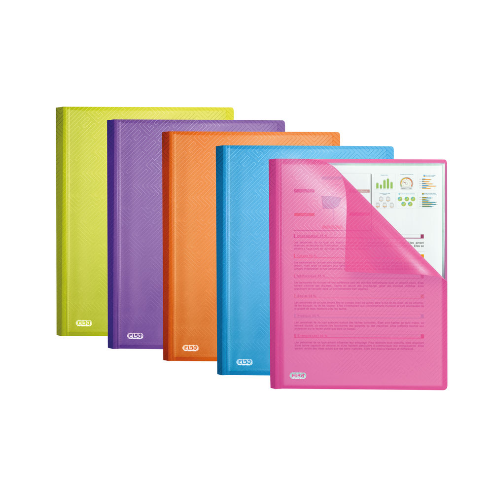 Elba Assorted A4 Display Book, Pack of 10 – 44122003