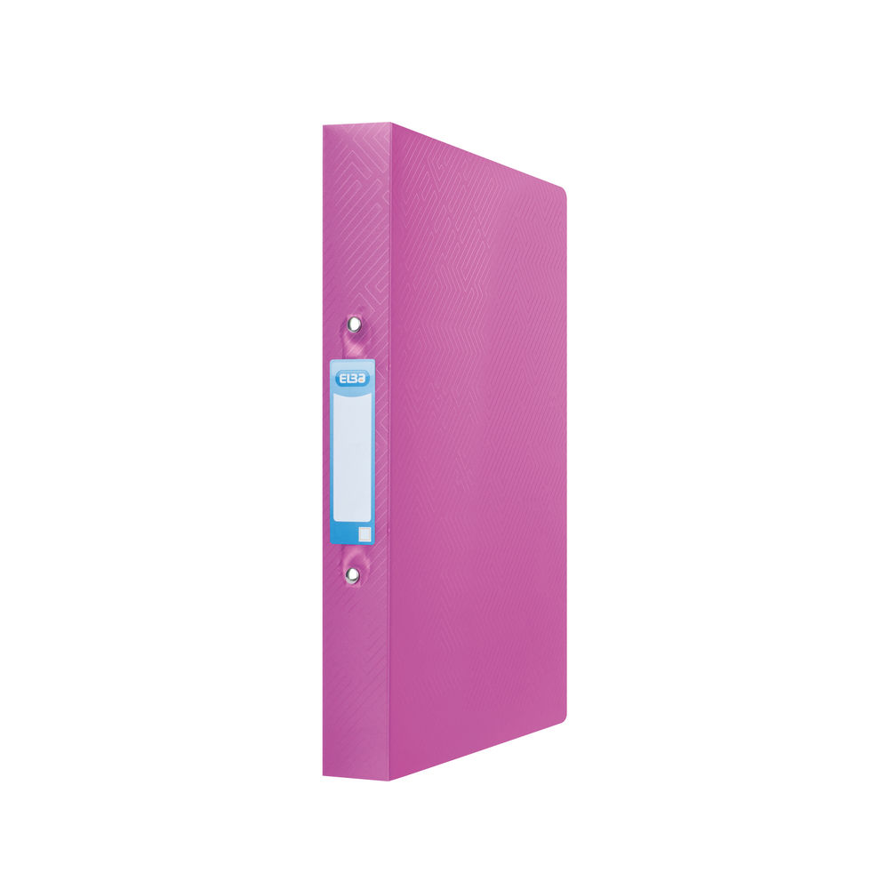 Elba Pink A4 25mm Ring Binders – 44122003