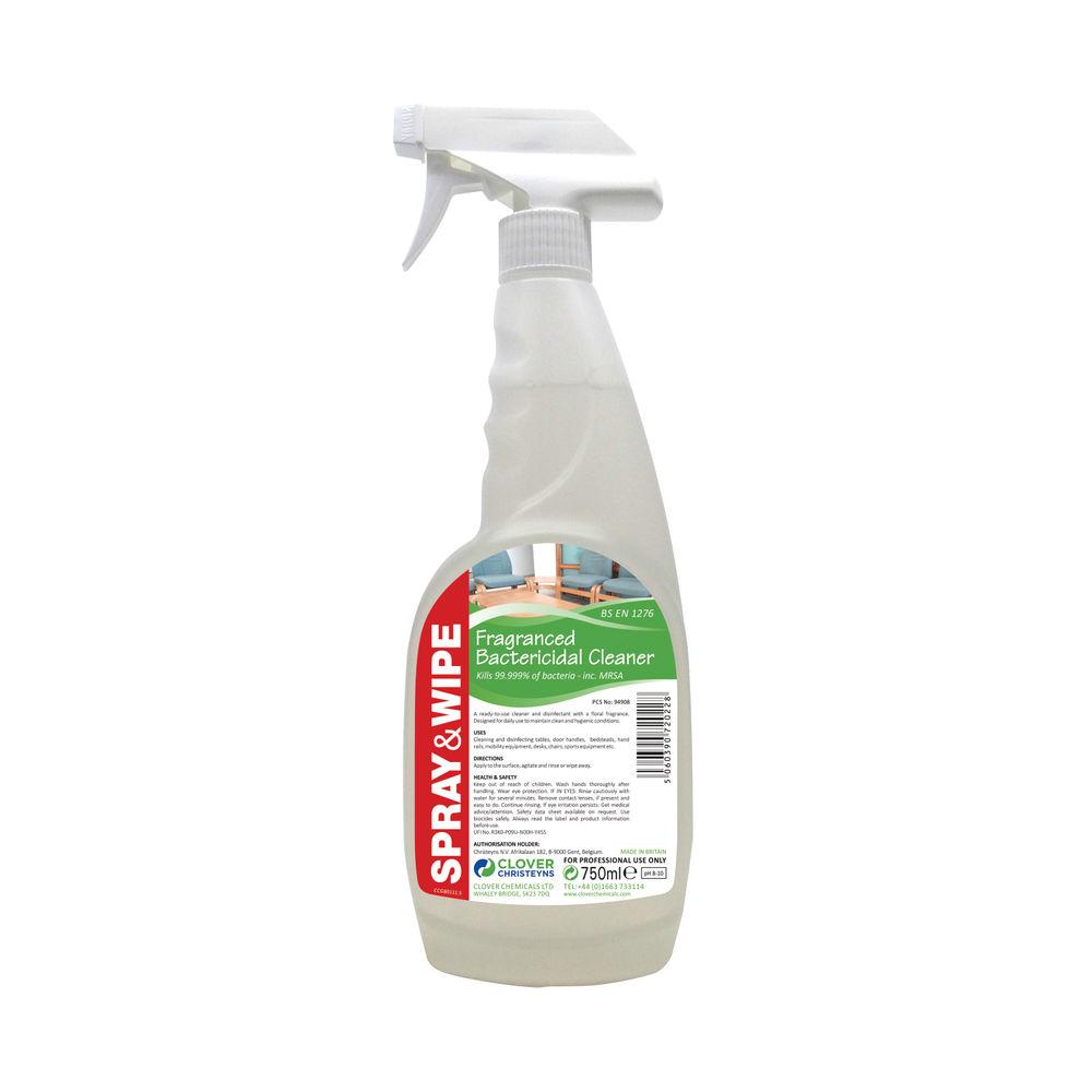 Clover Spray & Wipe 750ml Bactericidal Cleaner (Pack of 6) - CPSPRAYANDWIPE