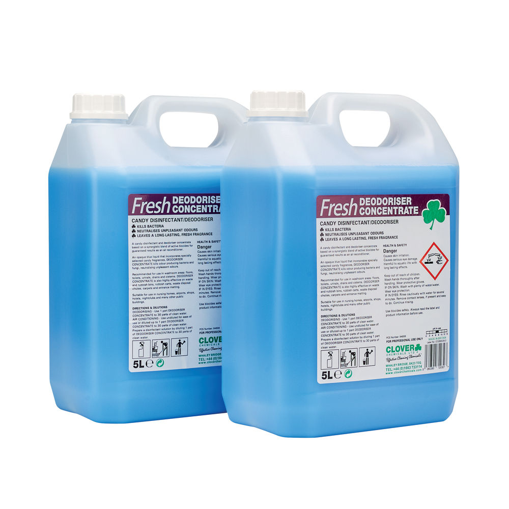 Fresh 5 Litre Candy Disinfectant Deodoriser, Pack of 2 - 223