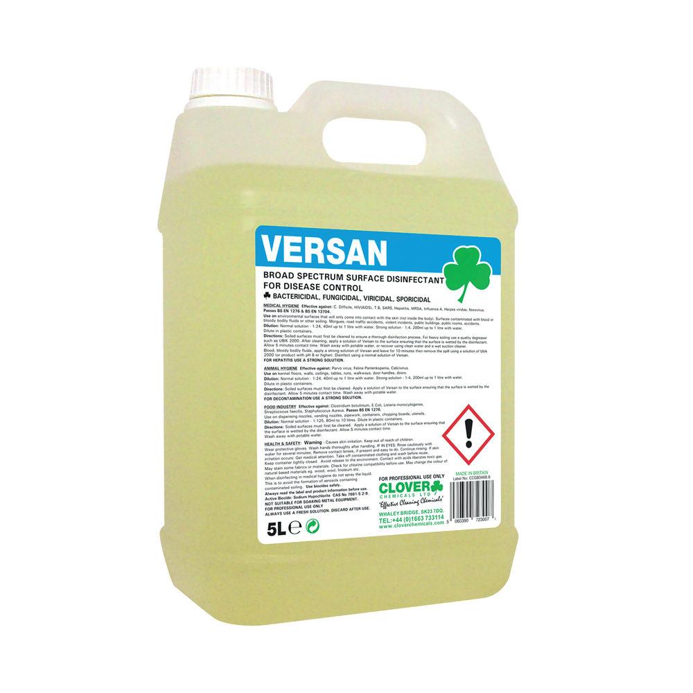 Clover Versan 5L Broad Spectrum Surface Disinfectant - 260