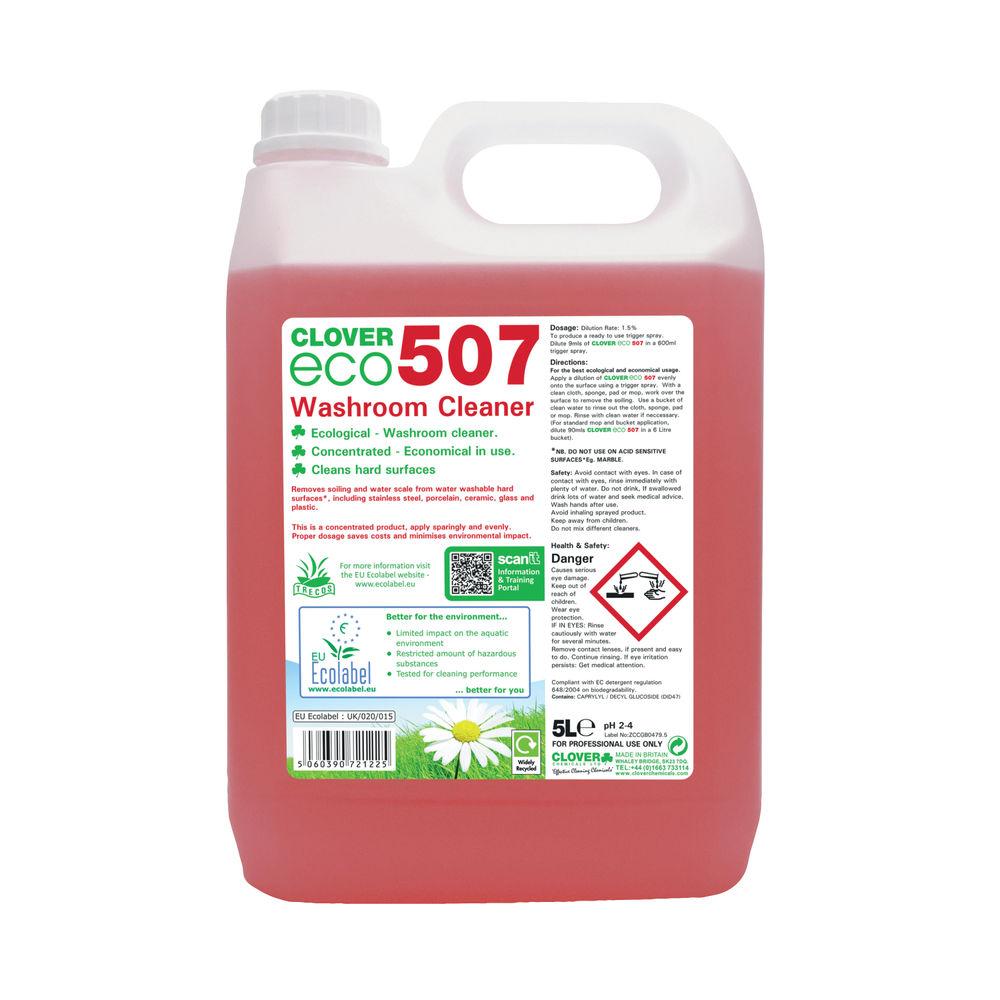 Clover 5 Litre Eco 570 Washroom Cleaner (Pack of 2) - 570