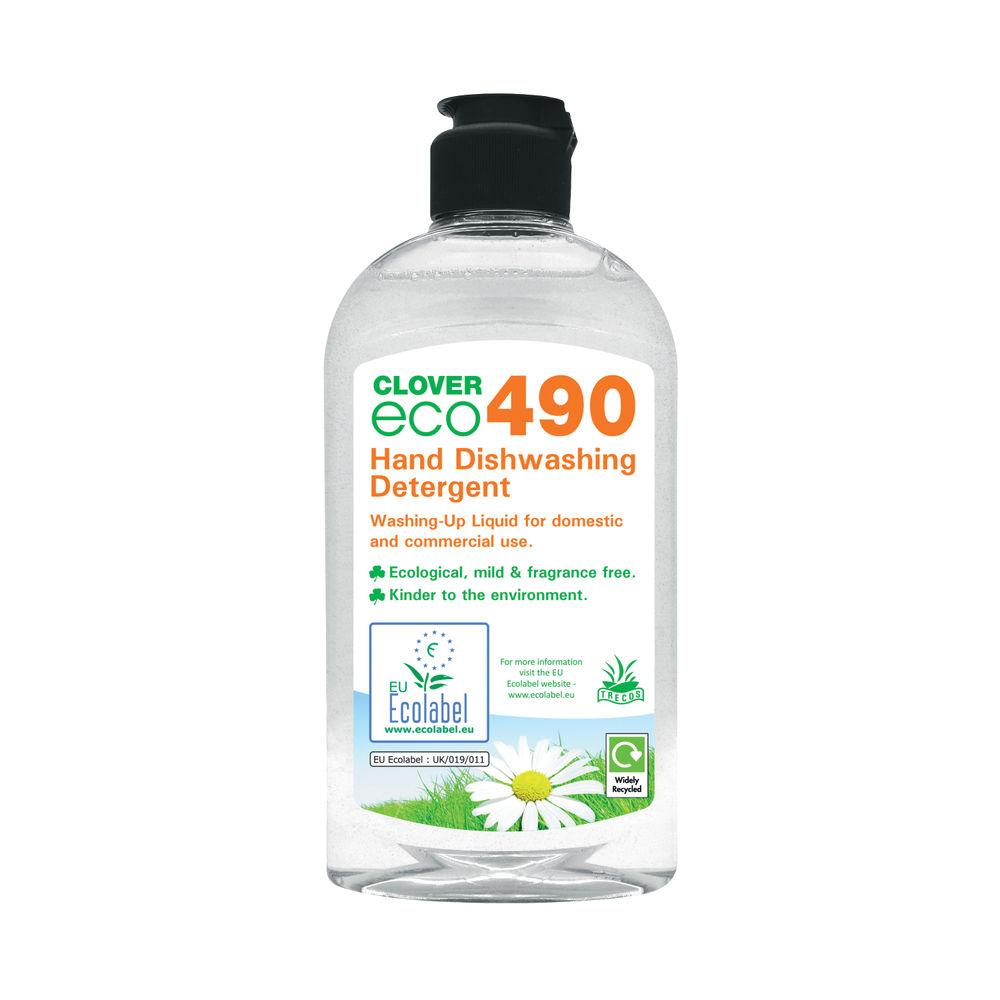 Clover 300ml Eco 490 Dishwashing Detergent, Pack of 6 - 490