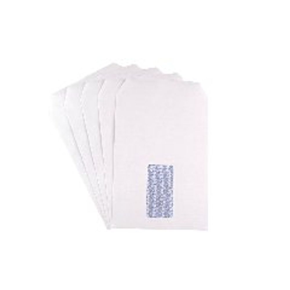 Q-Connect White C5 Window Self Seal Envelopes 90gsm, Pack of 500 - 2820