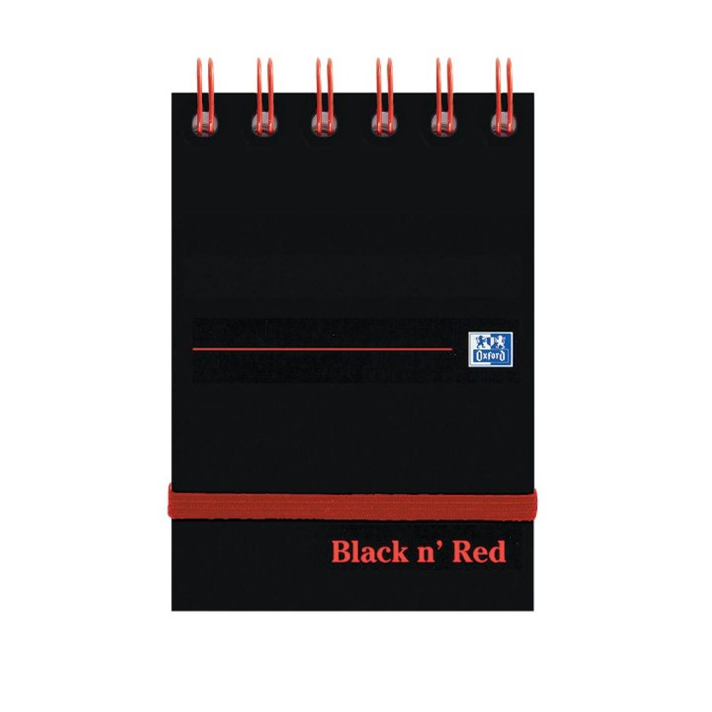 Black N' Red A7 Wirebound Reporters Notebook