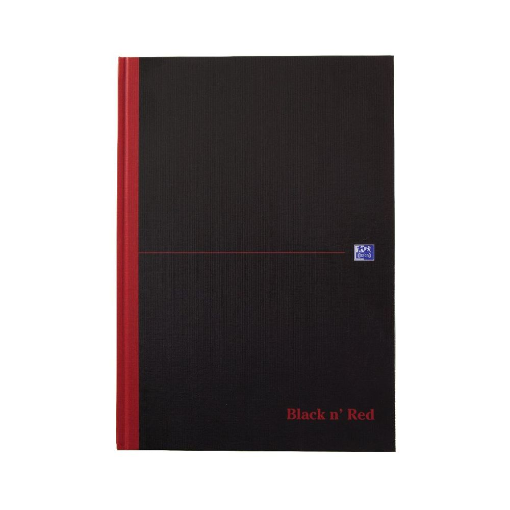 Black n Red Casebound A4 Smart Ruled Notebook - C66401