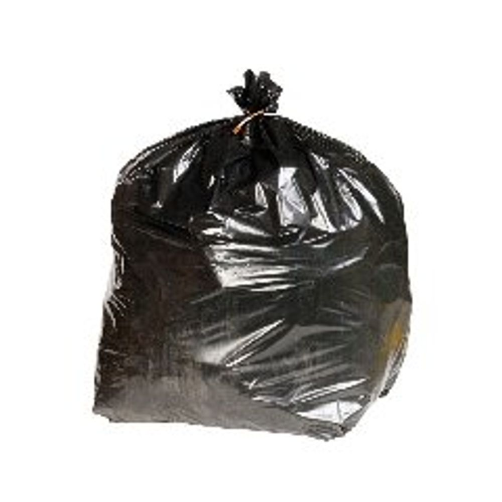 2Work Heavy Duty Refuse Sacks Black, Pack of 200 - BSHD1