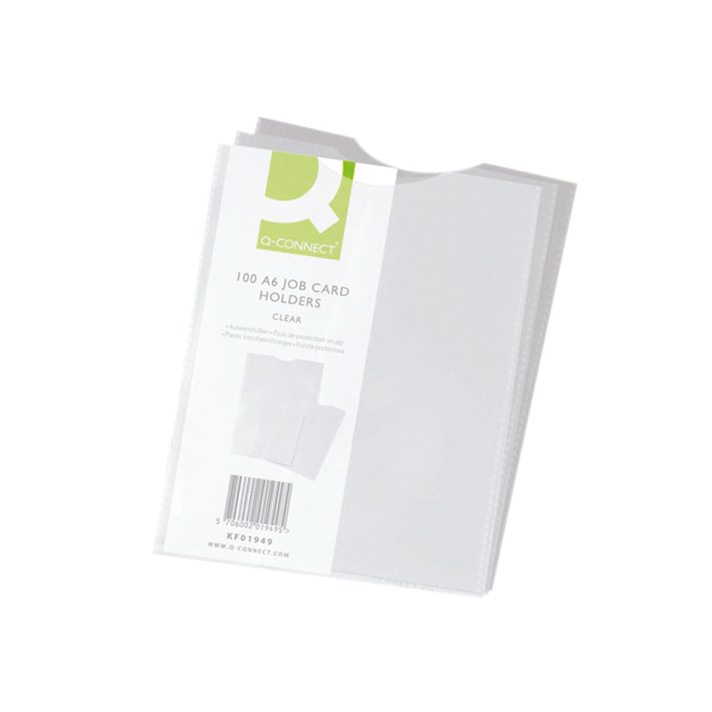 Q-Connect A6 Card Holder, Pack of 100 - KF01949