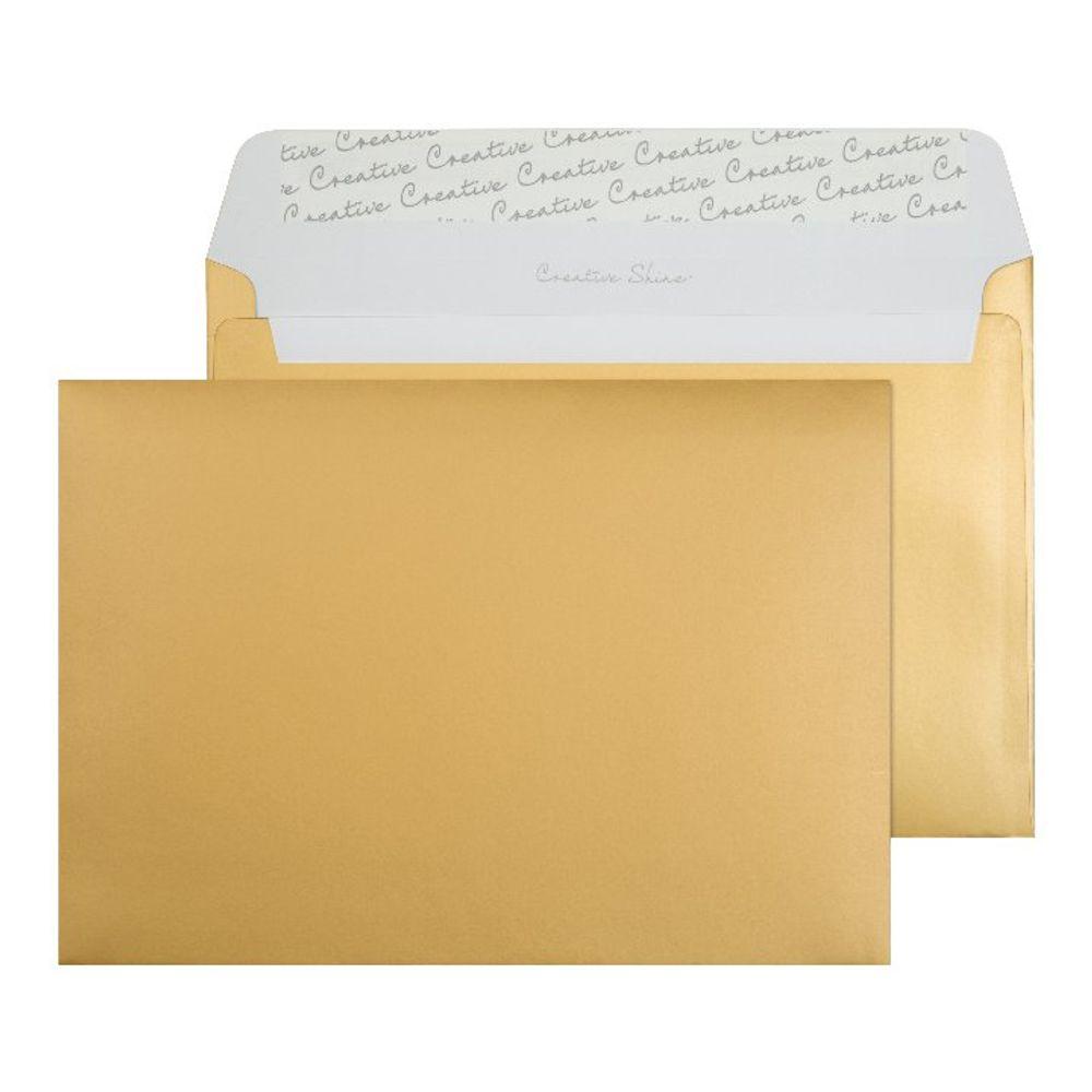 Blake Metallic Gold C5 Peel and Seal Envelopes 130gsm, Pack of 250 - BLK93029