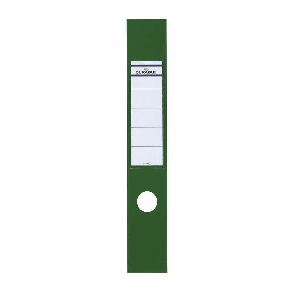 Durable Ordofix Self-Adhesive File Spine Label, 60mm, Green, (Pack of 10) 8090/05