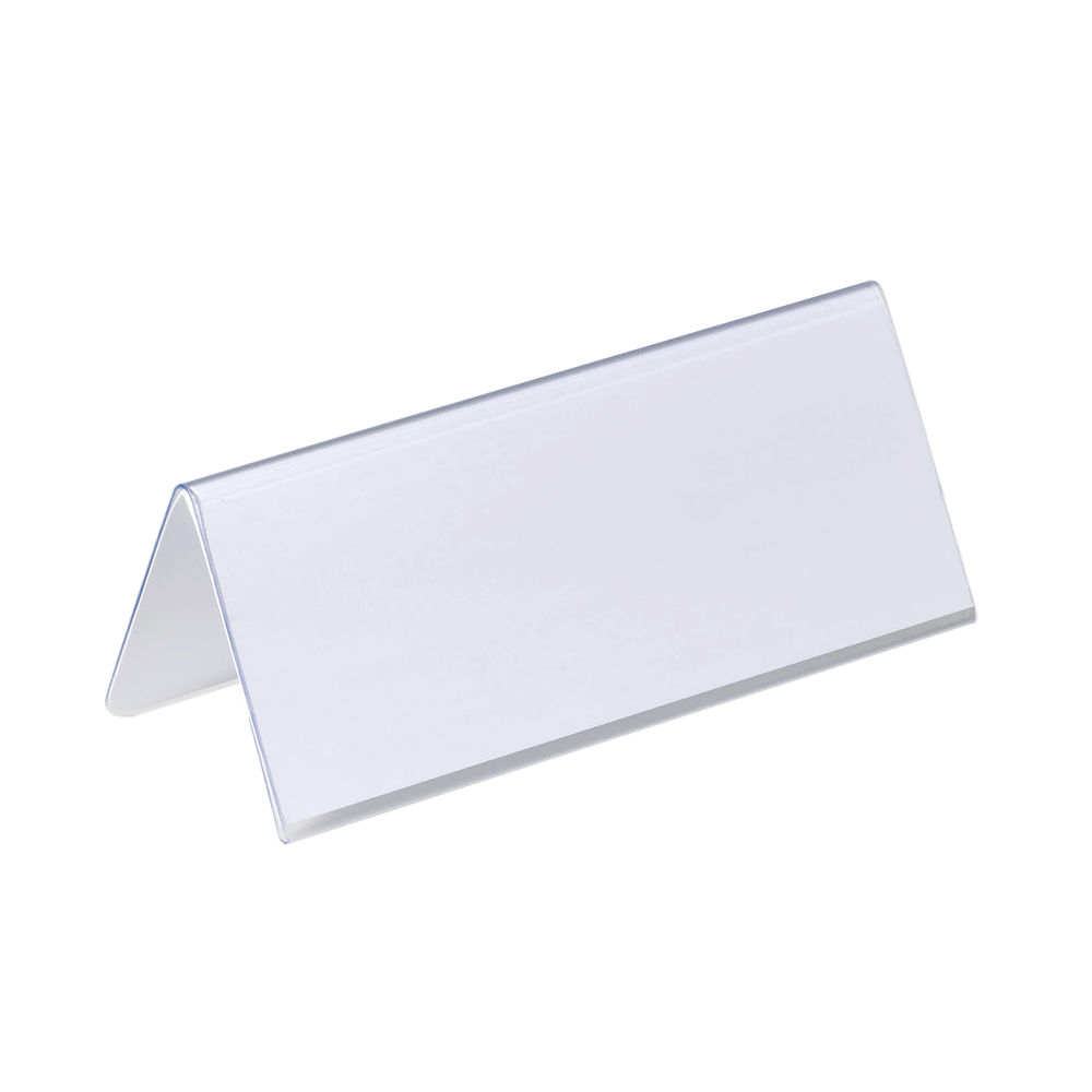 Durable 61 x 150mm Table Place Name Holders, Pack of 25 - 8050