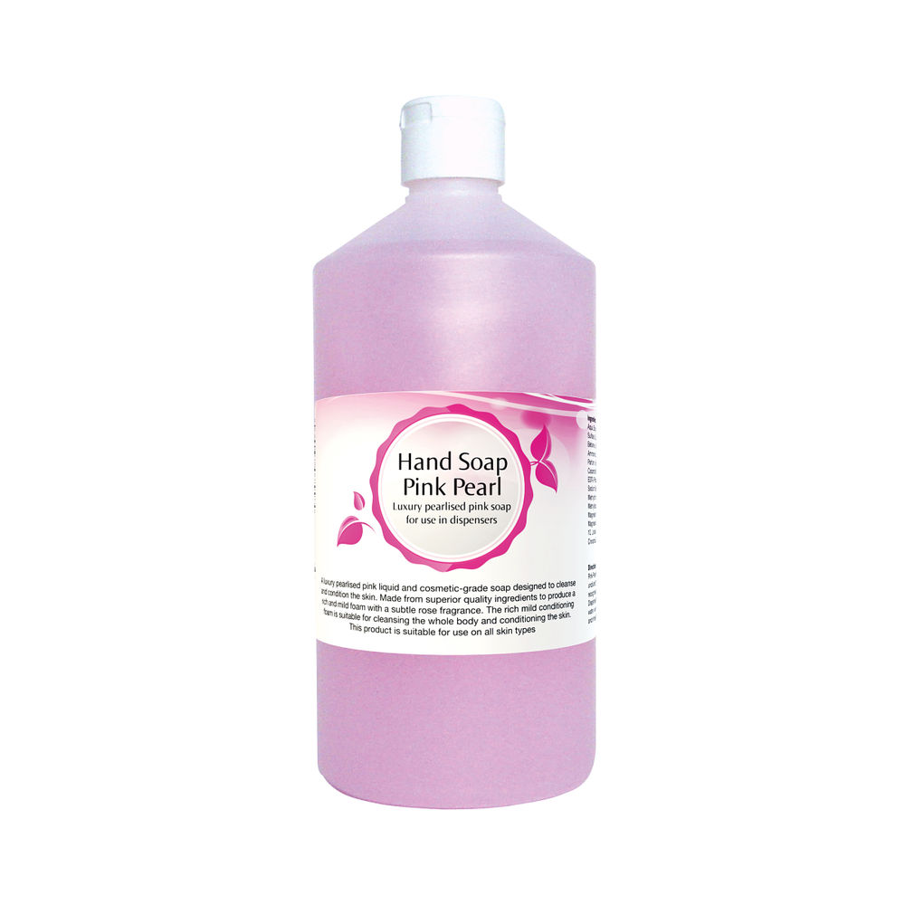 2Work Pink Pearlised Luxury Foamy Hand Soap 750ml 402