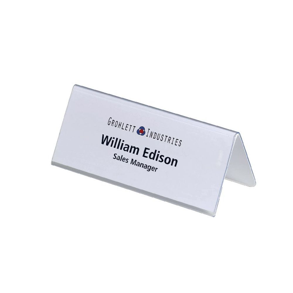 Durable Table Place Name Holders Clear, Pack of 25 - 8050/19