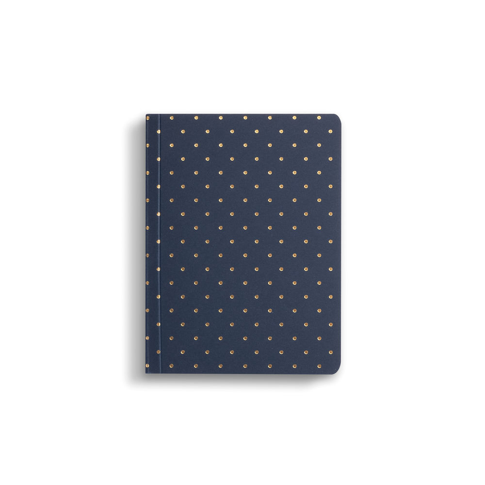 Go Stationery A6 Black and Gold Polka Dot Notebook - 6PN406A