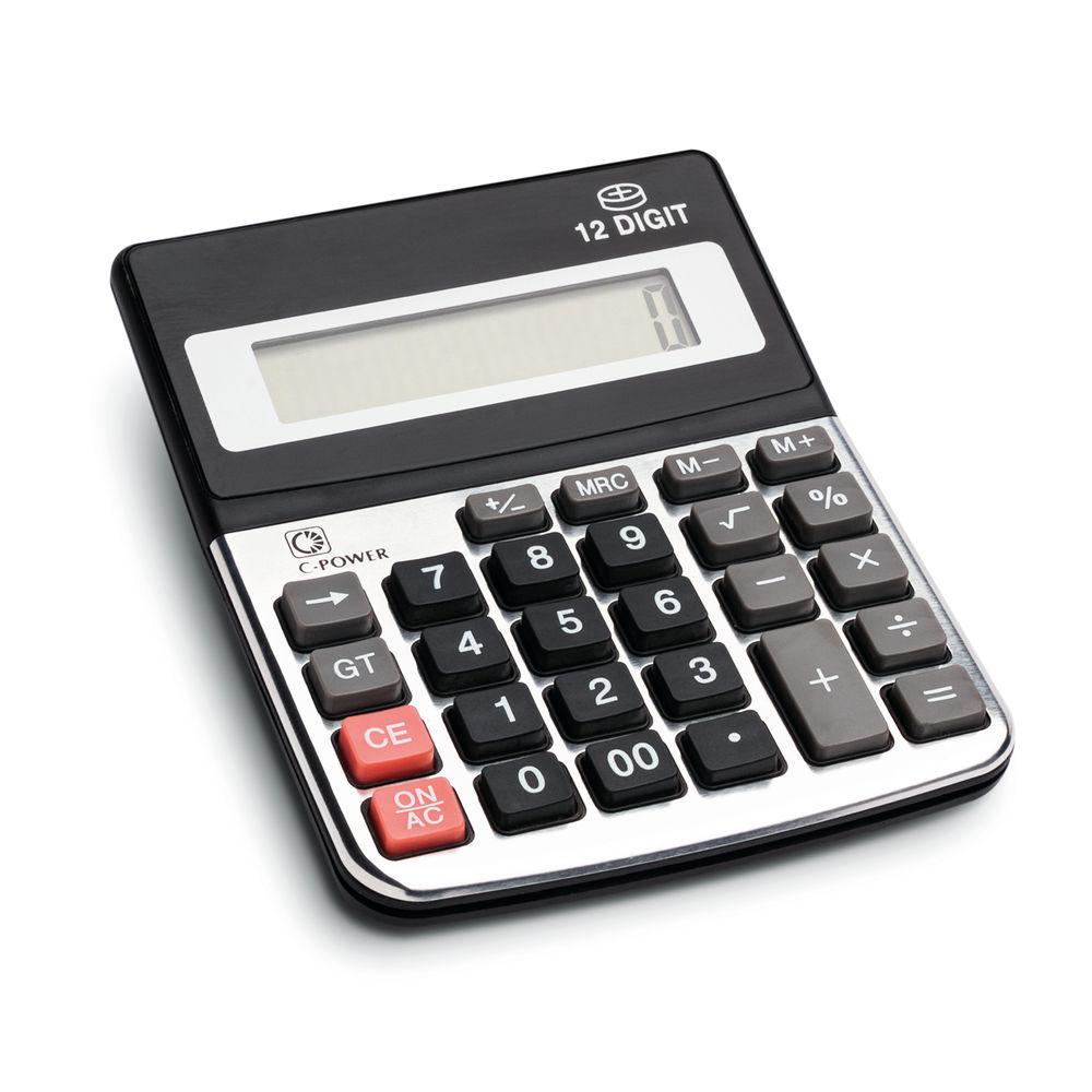 12 Digit Dsktp Calculator Battery Powered