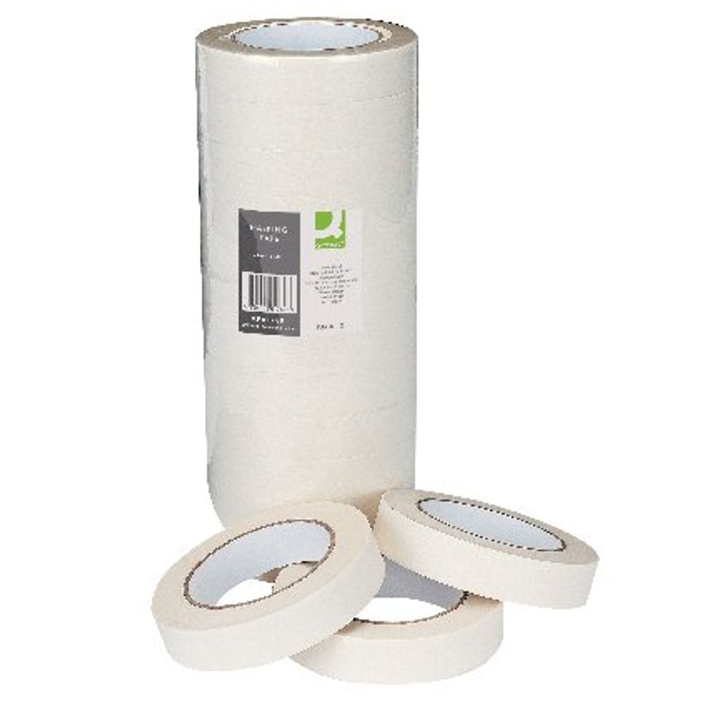 Q-Connect 24mm x 50m Masking Tapes, Pack of 12 - KF01789