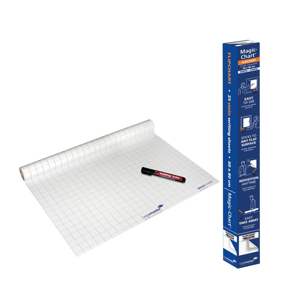 Legamaster 600 x 800mm Gridded Magic Chart Roll - 1590-00