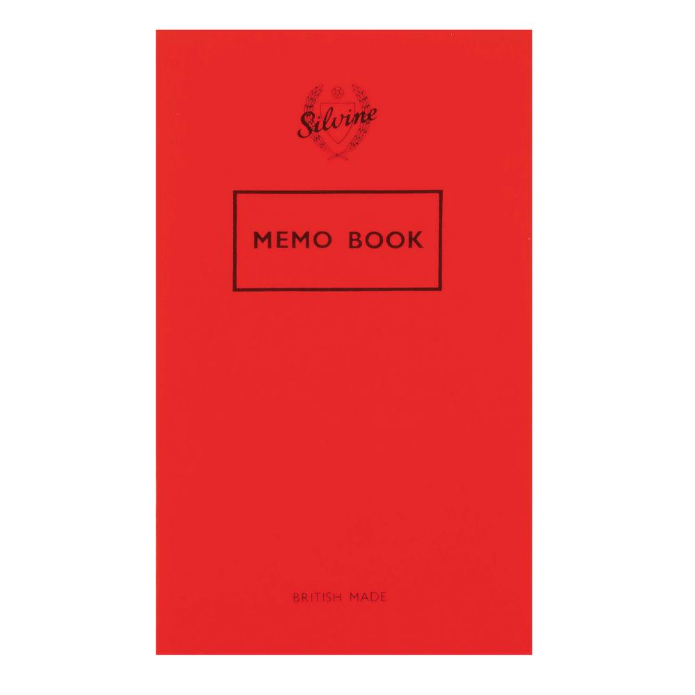 Silvine Feint Ruled Memo Book 159 x 95mm - Pack of 24 - Ref: 042