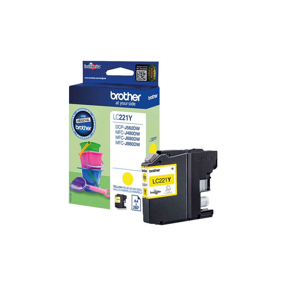Brother Inkjet Cartridge Yellow LC22EY