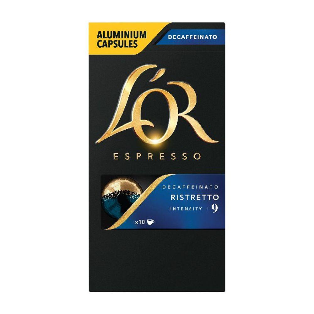 L'Or Espresso Ristretto Decaff Nespresso Capsules, Pack of 10 - 4028615