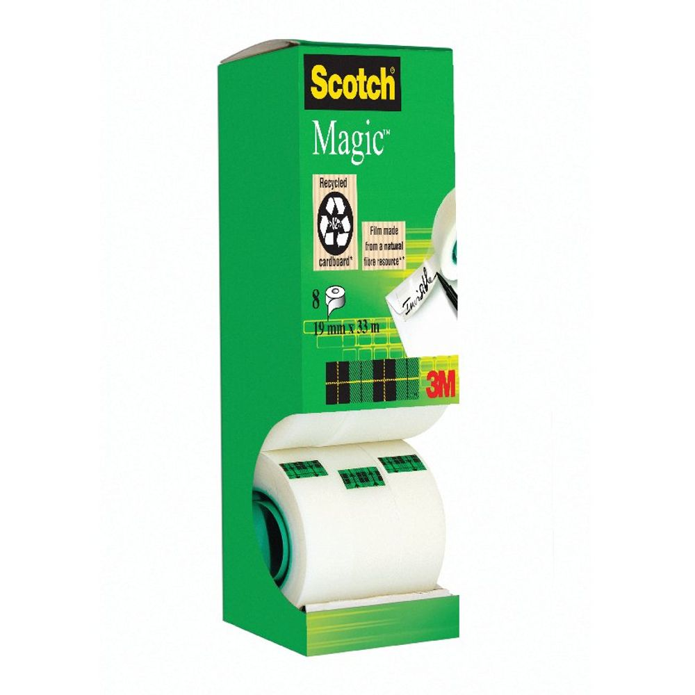 Scotch Magic Tape 810 Tower Pack 19mm x 33m (Pack of 8) 8-1933R8