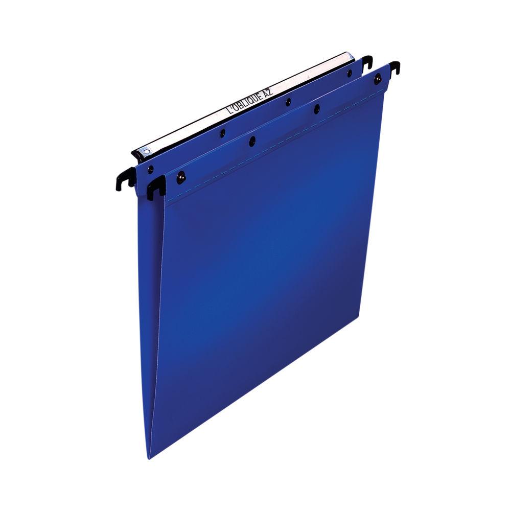 Elba Suspension File PP Foolscap Blue (Pack of 25) 100330370