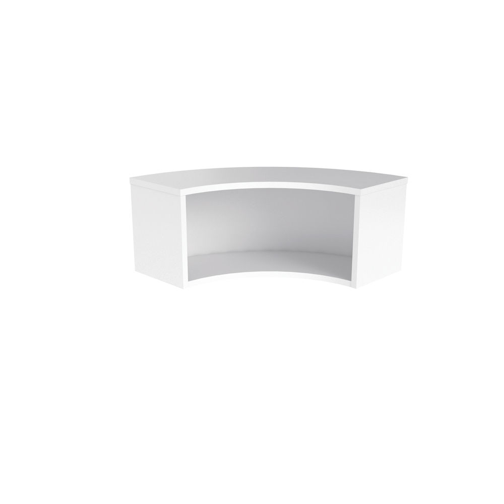 Jemini 800mm White Reception Modular Corner Riser Unit