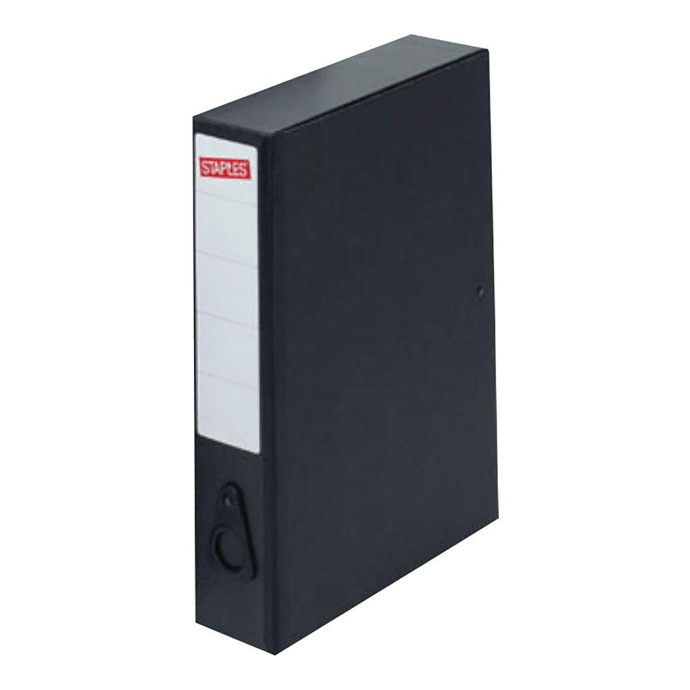 Staples Economy Box File A4 245 x 81 x 340mm Black 371539