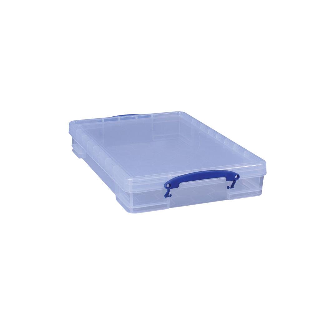 Really Useful 10L Plastic Storage Box 520 x 340 x 85mm Clear 10