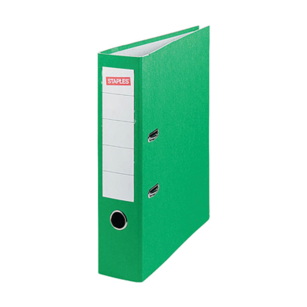 Staples 80mm A4 Lever Arch File Green 26744STAP