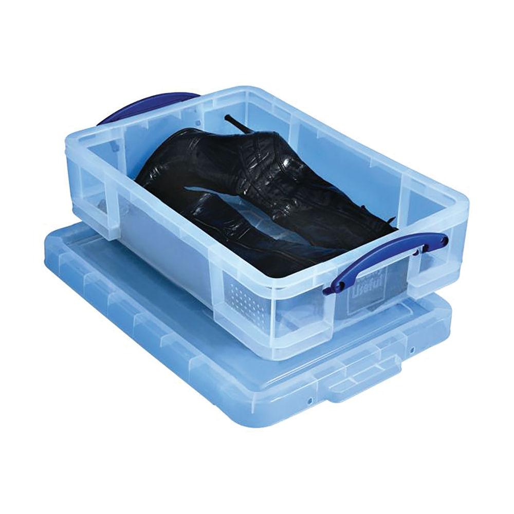 Really Useful 24.5L Plastic Storage Box 600 x 400 x 155mm Clear 24.5CCB