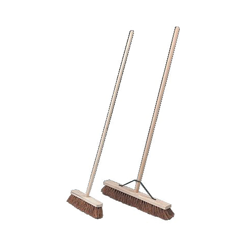 Brown Coco Soft Brush and Handle Metal Stays 600mm 14869TWH