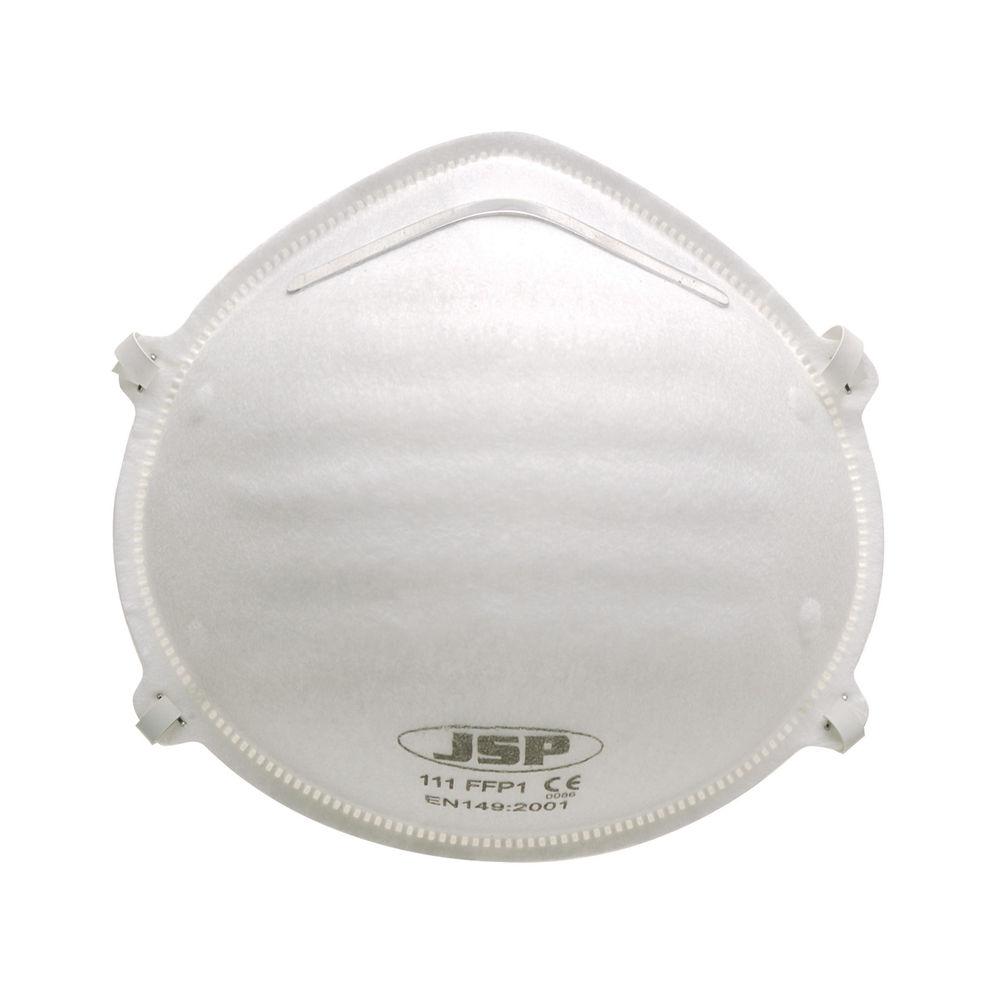 JSP FFP1 Face Mask Non-Valve White (Pack of 20) BEJ110-001-000