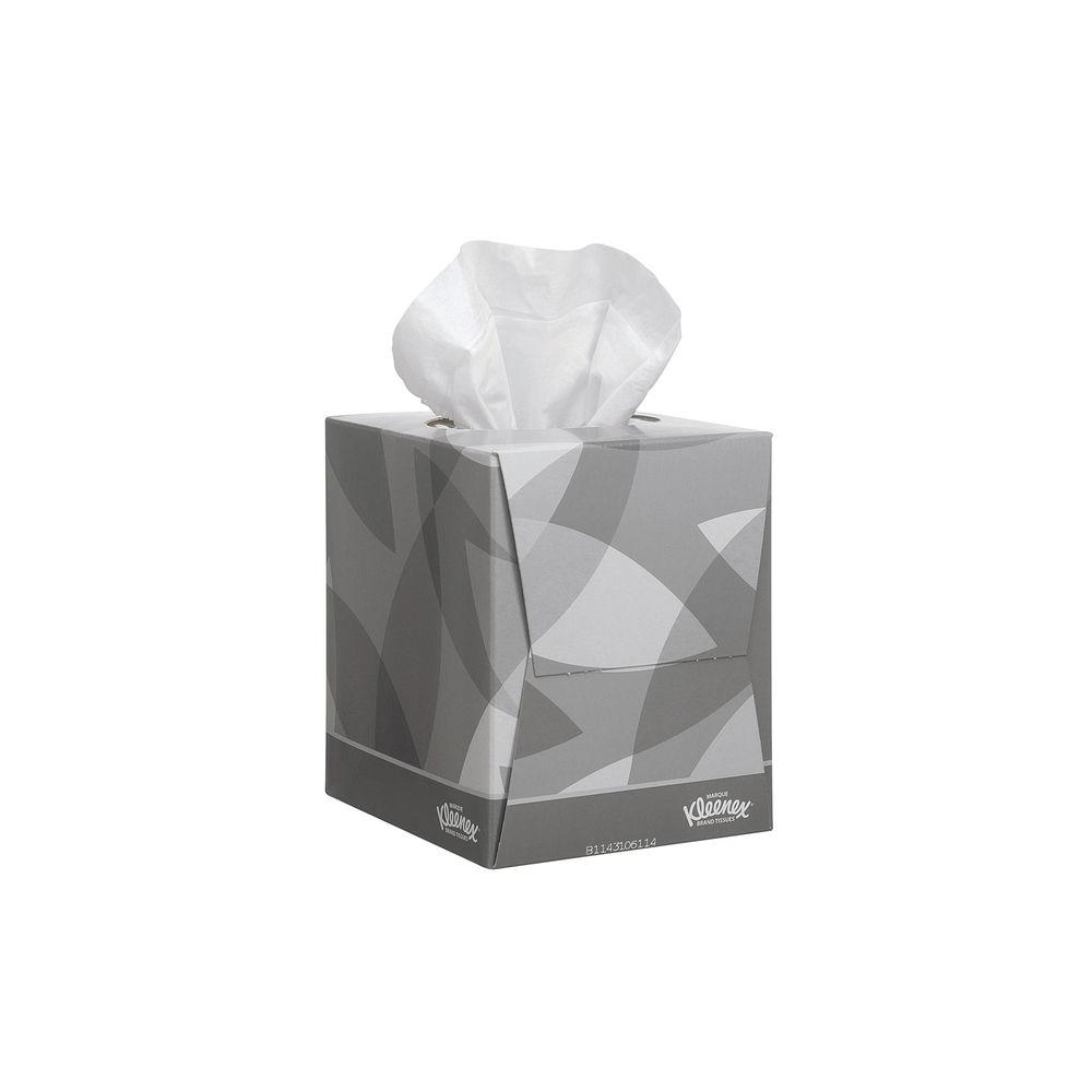 Kleenex Facial Tissue Cube 2-Ply 88 Sheets White 8834