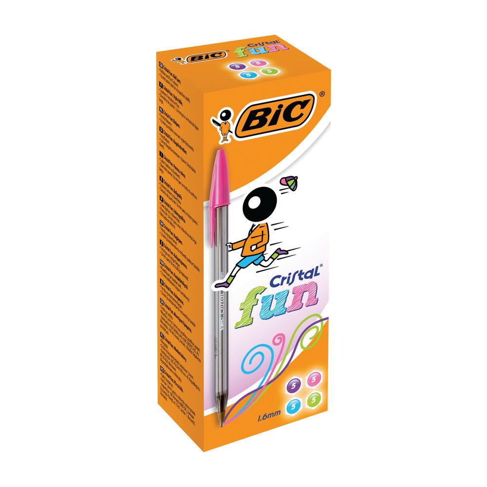 Bic Cristal Fun Ballpoint Pen XL Tip Assorted (Pack of 20) 895793