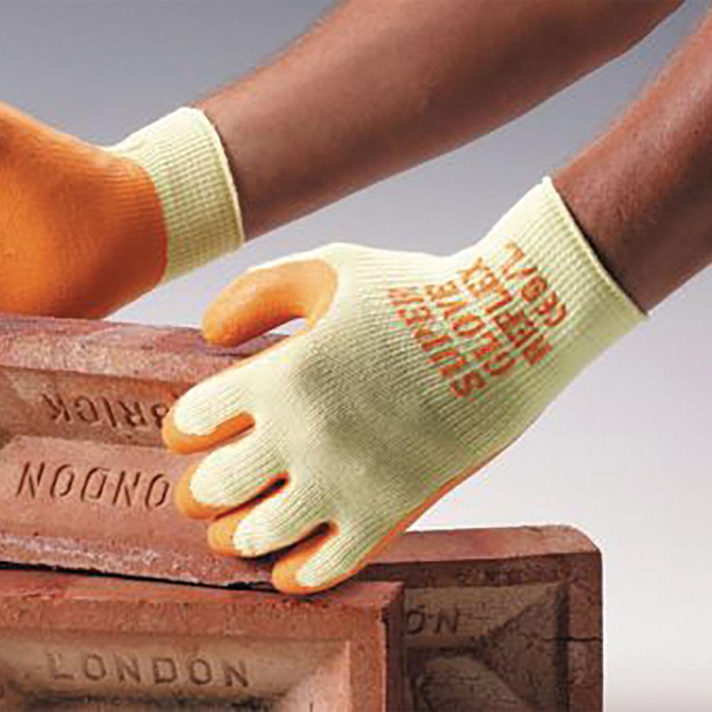 Click Polyamide Gloves Multipurpose L Orange (Pack of 10) MP1-LRG