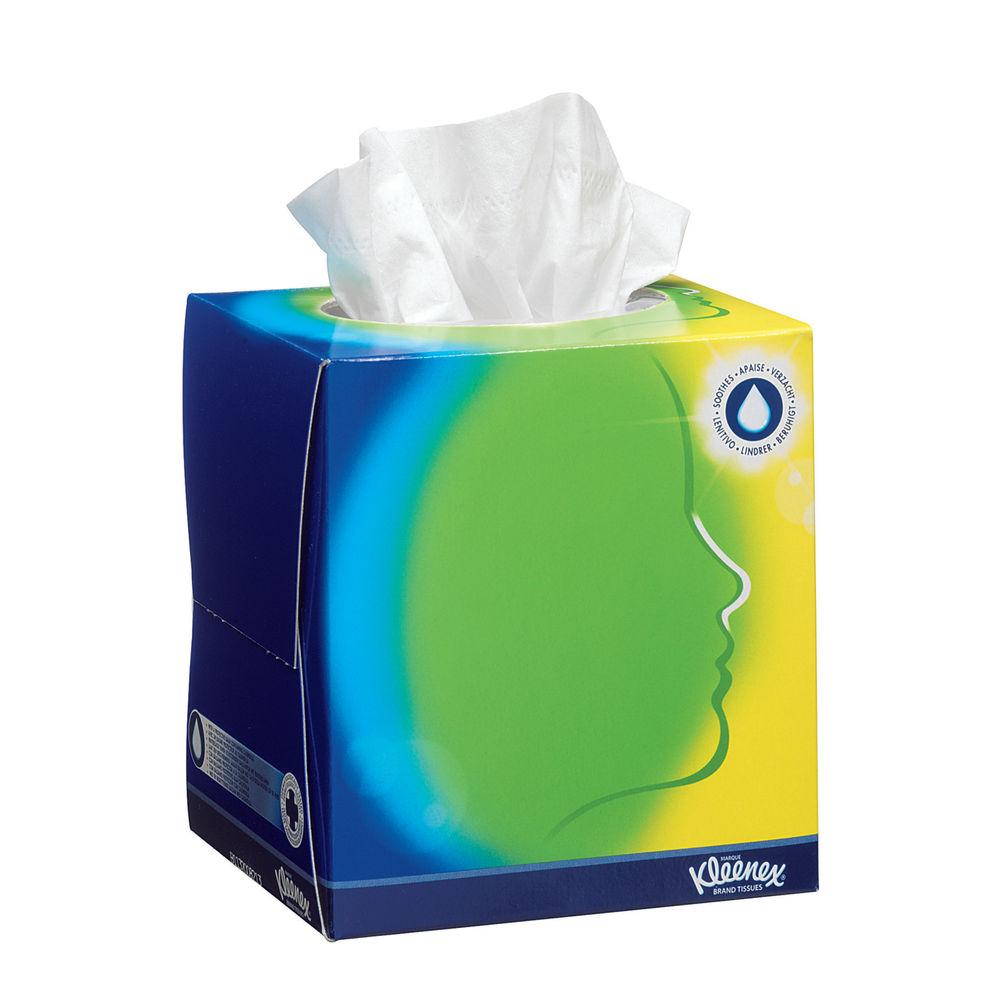 Kleenex Balsam Facial Tissue Cube 56 Sheets White 8825