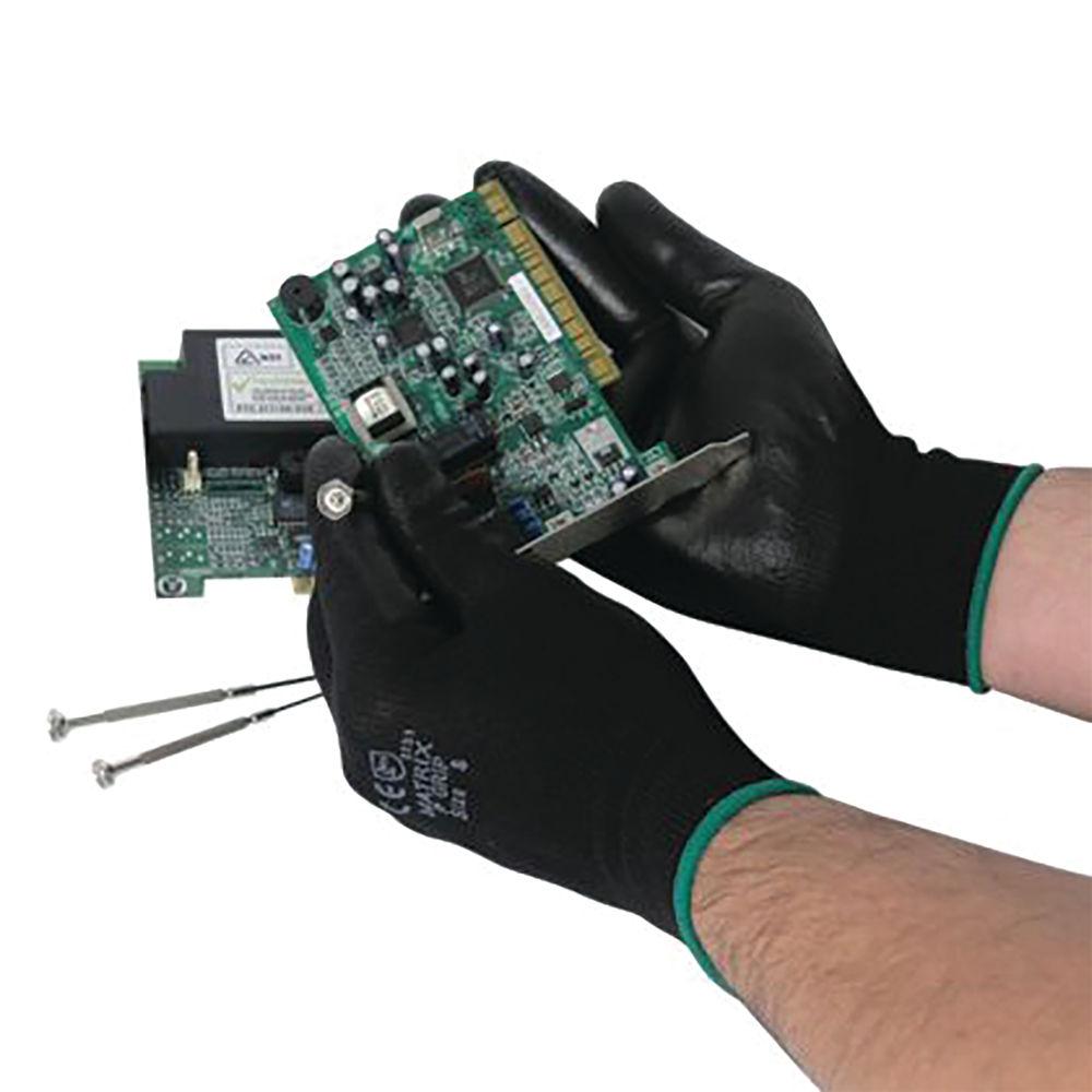 PolyCo Matrix P Nylon Grip Gloves Size 8 Black (Pack of 12) 402-MAT