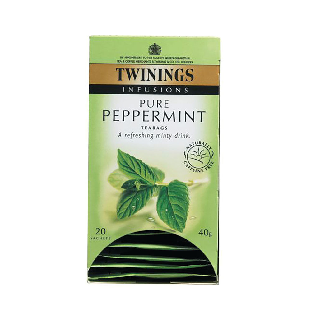 Twinings Pure Peppermint Tea 40g (Pack of 20) 403118