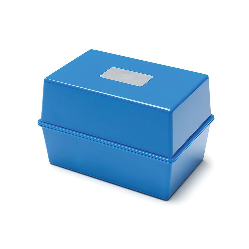 Card Index Box 165 x 110mm Blue CP011CEBLU