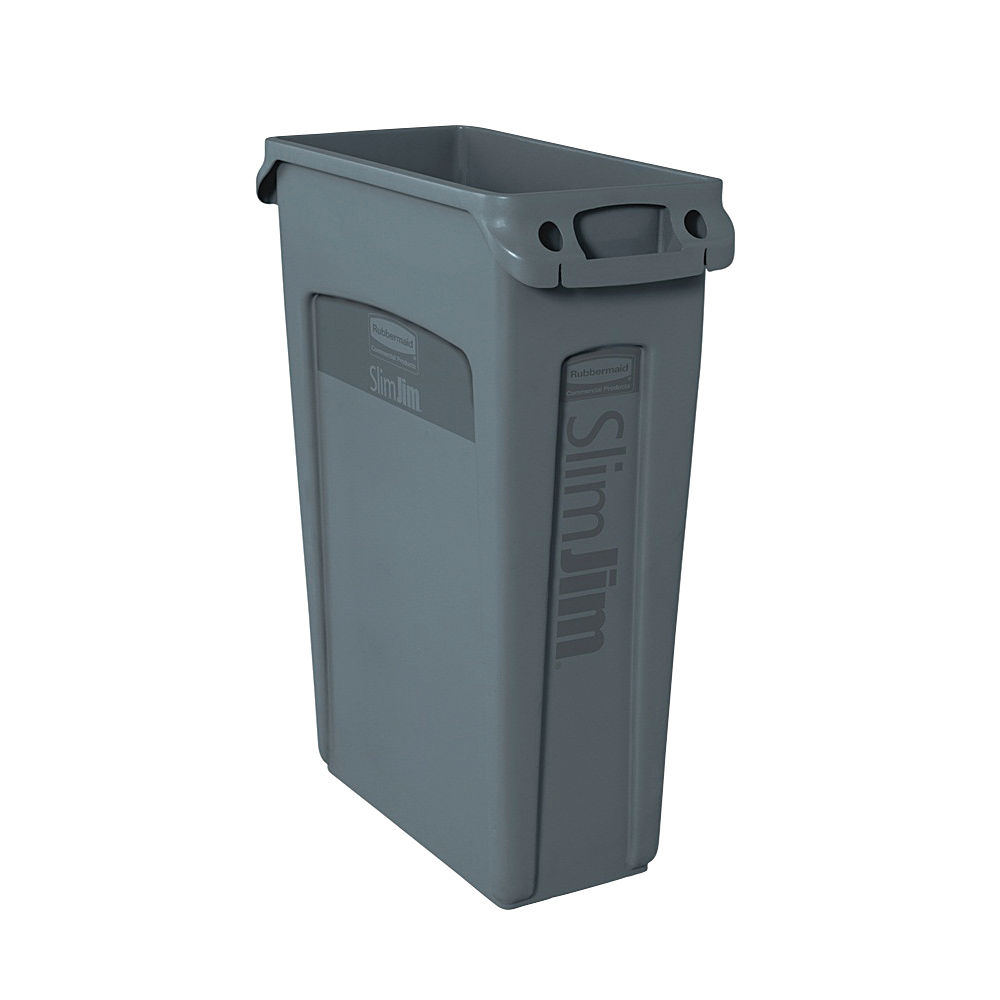 Rubbermaid Grey Slim Jim Venting Channel Container - 3540-60-GRY
