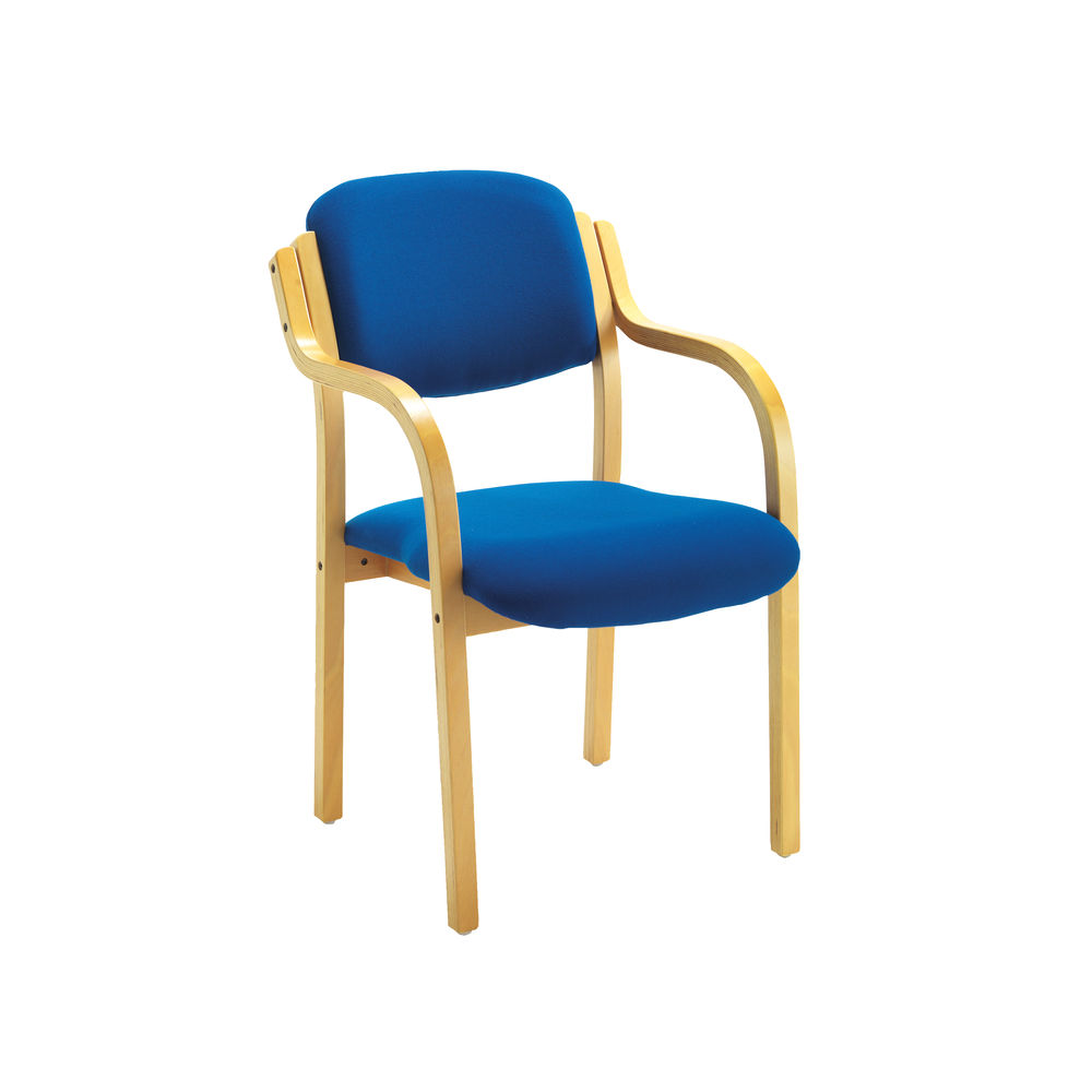 Jemini Blue Wood Frame Side Chair with Arms