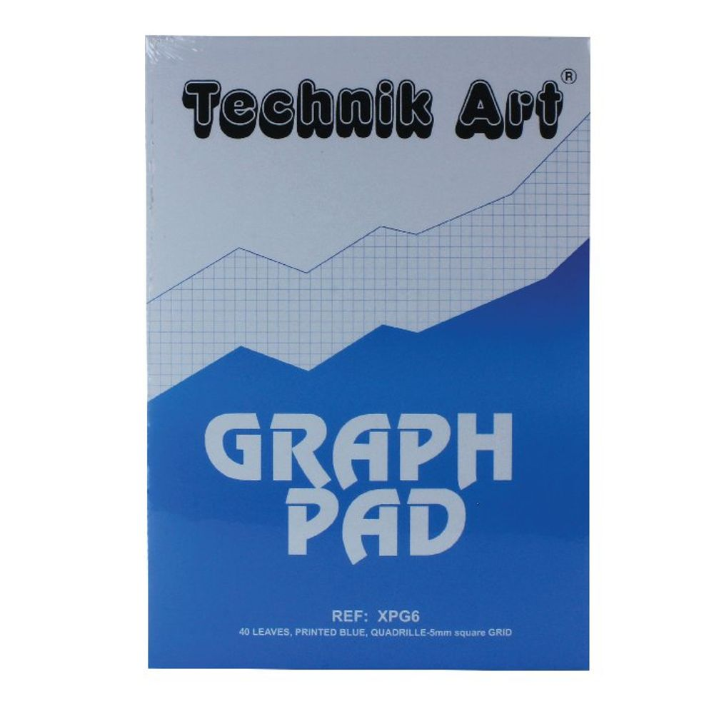 Technik Art 5mm Quadrille Graph A4 Pad - XPG6