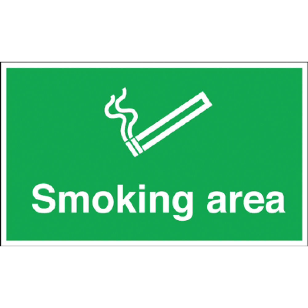 Smoking Area 300 x 500mm Safety Sign PVC - MA04729R