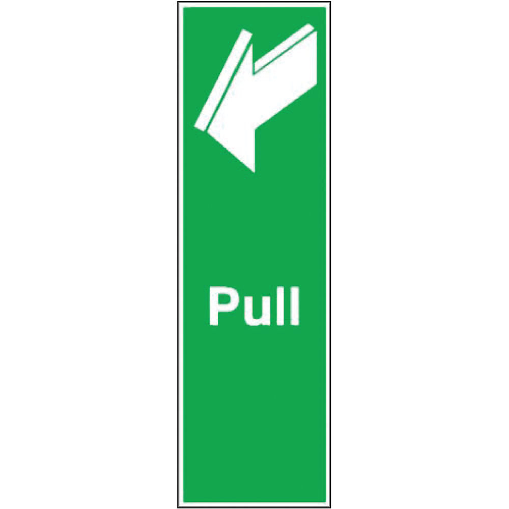 Pull 150 x 50mm Safety Sign  - FX05312S