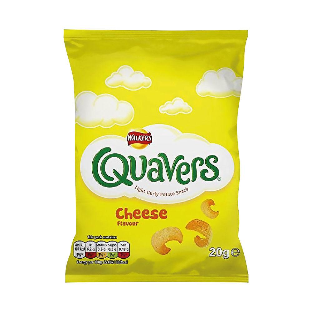 Walkers Quavers Crisps, Pack of 32 - 122007