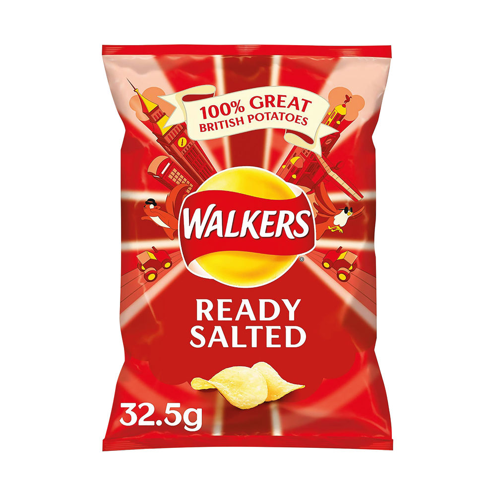 Walkers Ready Salted Crisps 32.5g (Pack of 32) 121797